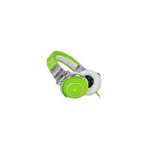 iDance DISCO610 Disco-610 Over-Ear Stereo DJ Headphones - Green/White