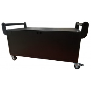 12V Steel Battery Cabinet with wheels - Quad Battery