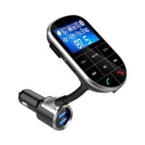 Gizzu BC37 Bluetooth Handsfree Kit with FM Transmitter Blue/White LED Interface