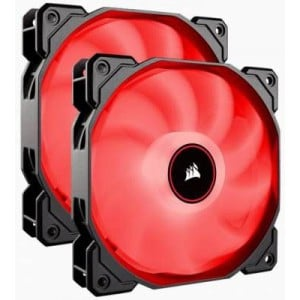 Corsair CO-9050089-WW Air Series AF140 LED (2018) Red 140mm Fan Dual Pack