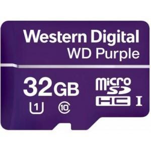 WD WDD032G1P0A Purple 32GB microSDHC Memory Card