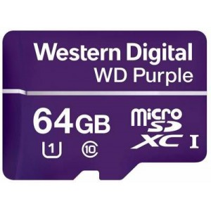 WD WDD064G1P0A Purple 64GB microSDXC Memory Card