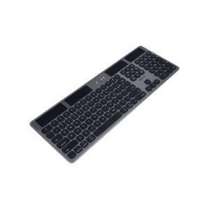Macally BTSOLARKEYSG Solar Powered Slim Bluetooth Wireless Keyboard for Mac (US English)