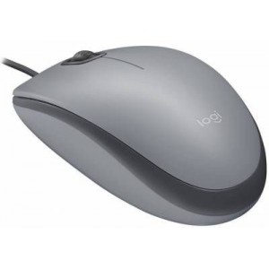 Logitech 910-005490 Grey Silent Wired Mouse - Grey