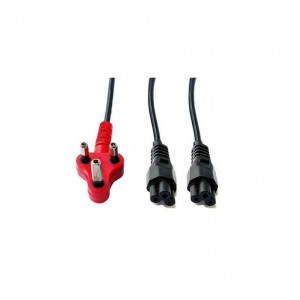 Cable Red Dedicated Plug, 2 x Clover plug,Split power cable,2.8meter