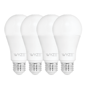 Wyze Bulbs (4 Pack) 800 Lumen Tunable White LED WiFi Bulbs