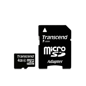 Transcend Ultra Performance MicroSD Flash Memory 4GB