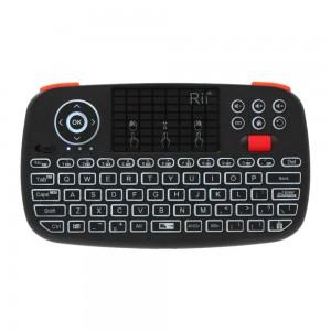 Rii I4 Wireless QWERTY Backlit Gamepad Touchpad|Keyboard|Bumpers|Scroll Wheel Black