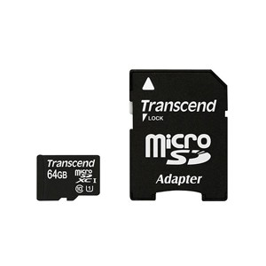 Transcend Ultra Performance MicroSDXC Class 10 UHS-I Premium Card - 64GB