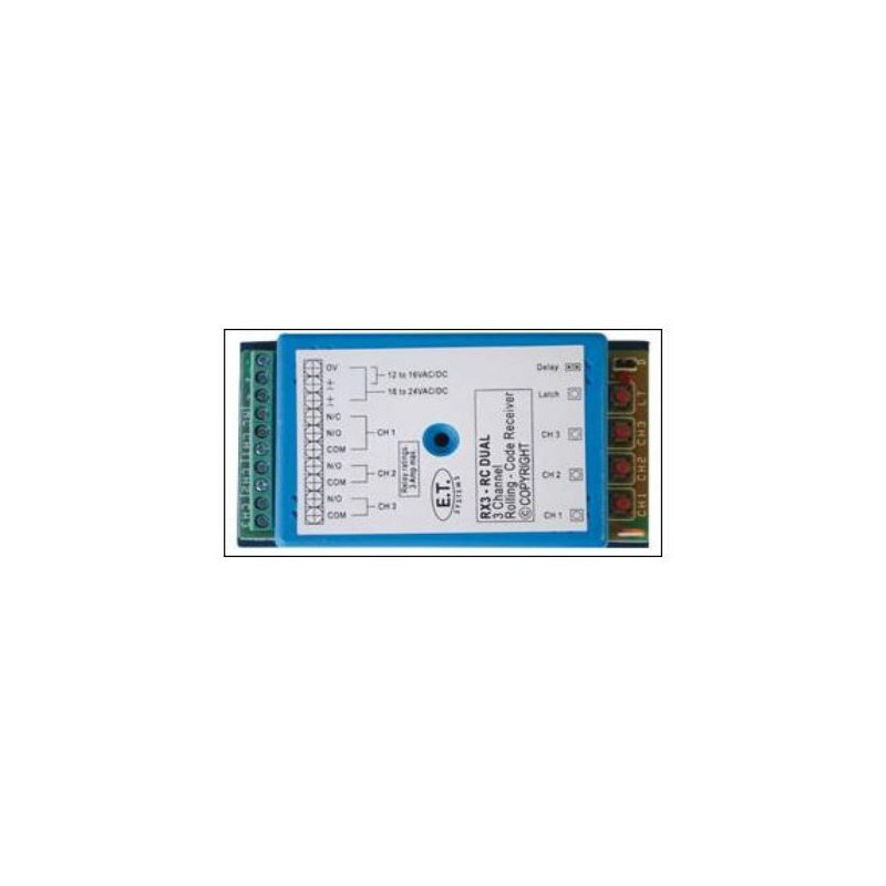 E.T System PA4565 Condo Receiver Rolling Code 434 MHz
