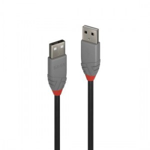 Lindy 36693 2m USB 2.0 Type A to A Cable, Anthra Line