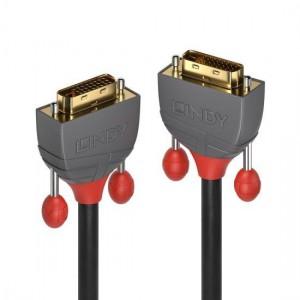 Lindy 36223 3m DVI-D Dual Link Cable, Anthra Line