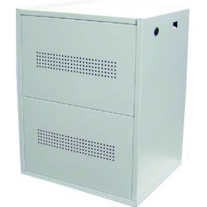 C10 Steel Battery Cabinet - Holds 10x 100Ah batteries (incl circuit breaker)