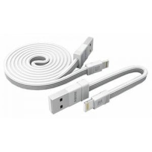 Remax RC-062I 1m + 0.16m 2 pack USB to Lightning Cable - White