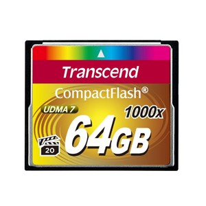 Transcend Ultra Performance Compact Flash Card 64GB - 1000x Speed