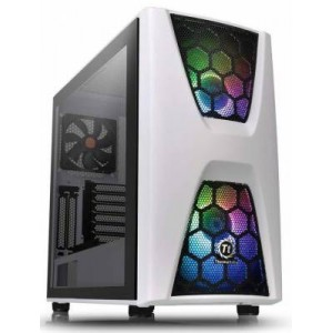 Thermaltake CA-1N5-00M6WN-00 Commander C34 TG Snow ARGB Edition Mid-tower Case