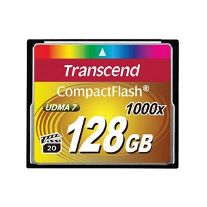 Transcend Ultra Performance Compact Flash Card 128GB - 1000x Speed