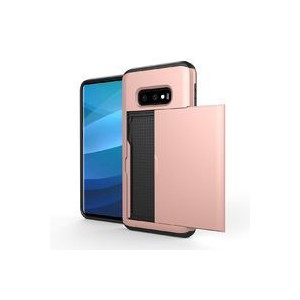 Tuff-Luv A10_171 Dual Layer Armour Credit Card Case for Samsung Galaxy S10e - Rose Gold
