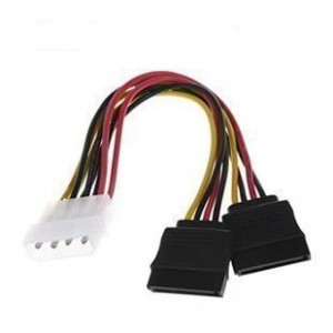 OEM 18cm Molex Male to SATA Female 2 Way Splitter