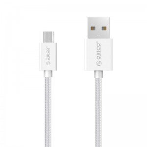 Orico MDC-10-V1-WH-PRO-BP Micro USB Braided Charging Data 1m Cable - White