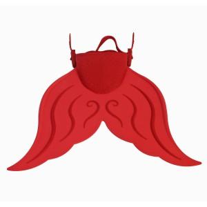 Mermaid Flippers - Large - Orange/red