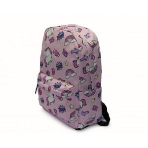 Kids Backpack - Unicorns - Pink