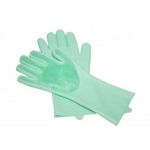 Silicone Kitchen Gloves - Green