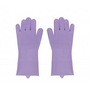 Silicone Kitchen Gloves - Purple