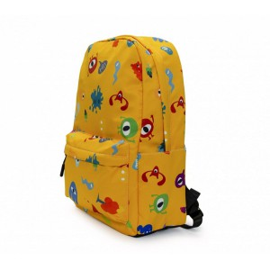 Kids Backpack- Monsters - Yellow