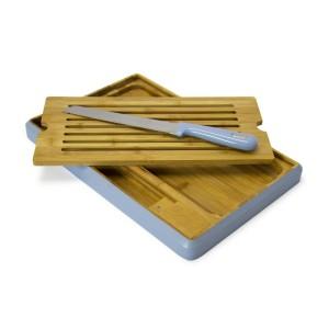 Bread Board with Knife - Blue