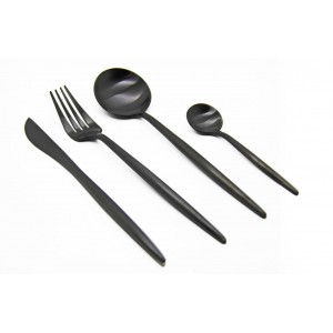 Finery - Cutlery Set 24pc - Carbon Black.