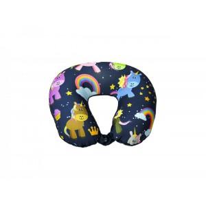 Medoodi Neck Cushion-Multicolour Unicorn & Rainbow