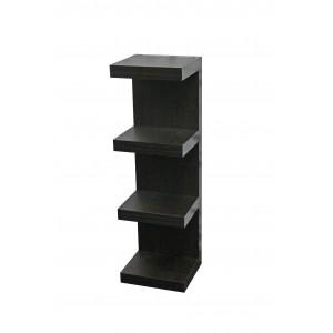 Juno Shelves - Piller - 4 shelf - Black Wood Grain