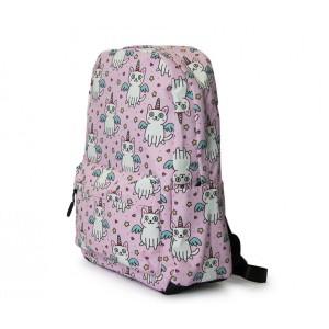 Kids Backpack - Unicorn Cat - Pink