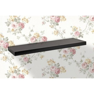 Juno Shelves - Floating Large - Black Wood Grain
