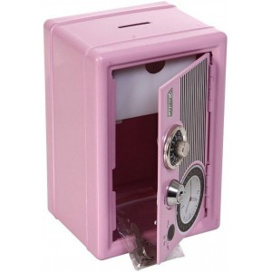 Retro Radio Safe - Pink