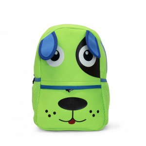Kids Neoprene Backpacks - Puppy Green