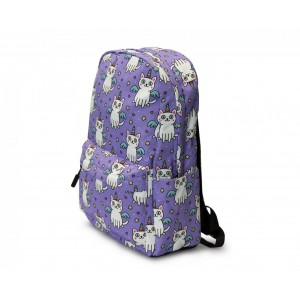 Kids Backpack - Unicorn Cat - Lilac