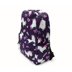 Kids Backpack - Unicorns - Navy