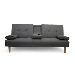 Fine Living - Isle Couch/Sleeper  - Dark Grey