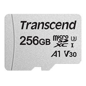 Transcend TS256GUSD300S-A 256GB MicroSDXC Class 10 UHS-I U1/U3 V30 A1 With SD Adaptor