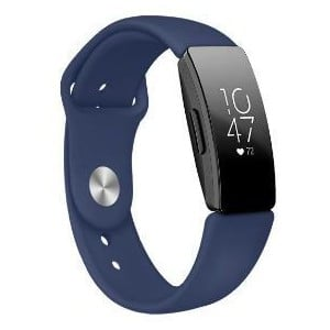 Tuff-Luv A6_84 Silicone Strap for Fitbit Inspire / Inspire HR - Large - Navy