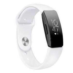 Tuff-Luv A6_86 Silicone Strap for Fitbit Inspire / Inspire HR - SMALL - White