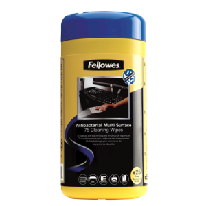 Fellowes 2210913 Antibacterial Surface Cleaning Wipes