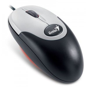 Genius 31010868100 NetScroll 110 Wired Optical Mouse - Black and White