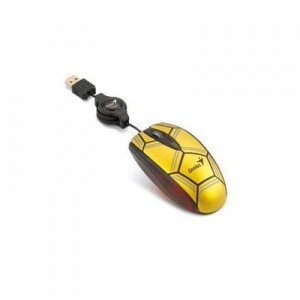 Genius 31011058101 Navigator P300 Wired Football Optical Mouse - Gold