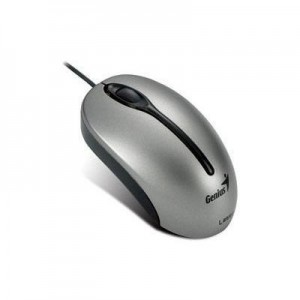 Genius 31011469100 Traveler 305 Wired Laser Mouse - Black and Silver