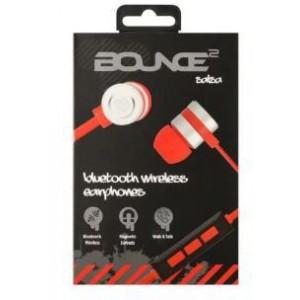 Bounce BO-1008-RDBK Salsa Series Bluetooth Aluminium Body Earphone - Red/Black