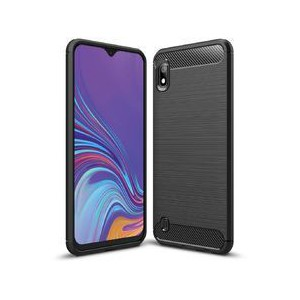 Tuff-Luv M841 Carbon Fibre Effect Armour Case for Samsung Galaxy A10 - Black