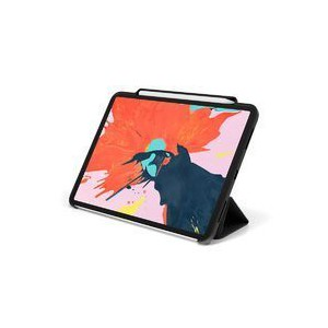 """Tuff-Luv J8_60 Smart Cover & Stand With Tablet Armour Shell & Stylus Holder for iPad Pro 11""""- Black"""